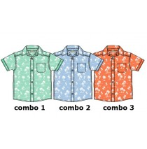 131135 Baby boys shirt combo 2 vista blue (4 pcs)