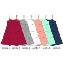 131295 Baby girls dress 6 colours (24 pcs)
