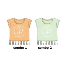 131337 Encounter teen girls shirt combo 2 honeydrew (6 pcs)
