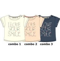 Pauze baby girls shirt combo 3 crown blue (4 pcs)
