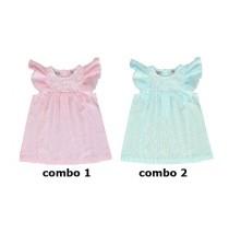 Baby girls dress blue glow (4 pcs)