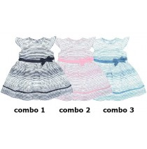 131422 Digital Wave baby girls dress combo 3 vista blue (4 pcs)