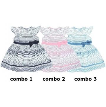 131422 Digital Wave baby girls dress combo 3 vista blue (4 pcs)