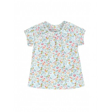 131428 Edgelands small girls blouse optical white (5 pcs)
