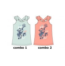 131566 Encounter small girls singlet combo 2 conch shell (6 pcs)