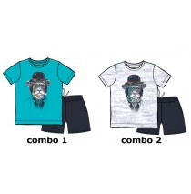 131589 Edgelands teen boys set Combo 2 light gray melange (6 pcs)