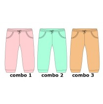 131638 Baby girls jogging pant combo 3 peach (4 pcs)