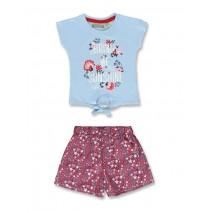 Baby girls set shirt+short blue bell (4 pcs)