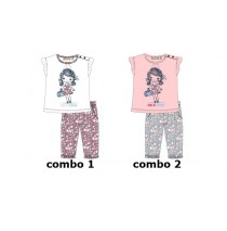 Baby girls set shirt+pant combo 2 fairy tale (4 pcs)