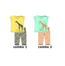 131678 Baby girls set shirt+pant combo 2 blue radiance (4 pcs)