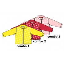 131688 Riviera baby girls cardigan sweat Combo 2 raspberry (4 pcs)