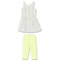 131695 Digital Wave small girls set: dress+legging optical white (5 pcs)