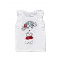 Encounter small girls shirt optical white (5 pcs)