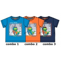 Edgelands baby boys shirt combo 3 medieval blue (4 pcs)