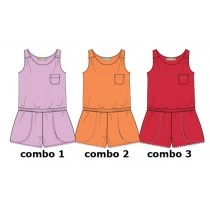 Baby girls overall combo 2 camelia (4 pcs)
