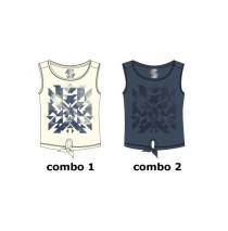 Encounter teen girls singlet combo 2 crown blue (6 pcs)