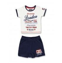 132976 Baby boys set shirt+short combo 1 optical white (4 pcs)