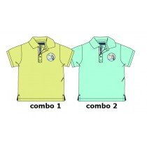 132977 Encounter baby boys polo combo 2 blue radiance (4 pcs)