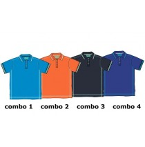 Digital wave teen boys polo Combo 4 clematis blue (6 pcs)