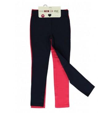 133105 Basic small girls legging two pack raspberry (5 pcs)
