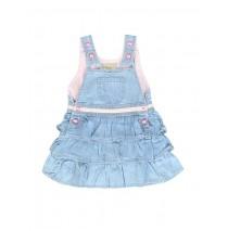 133121 Baby girls dress combo 1 light blue (4 pcs)