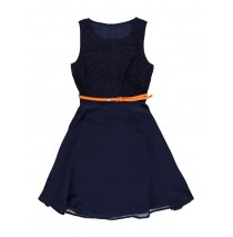 133165 Riviera teen girls dress medieval blue (5 pcs)