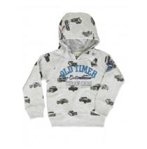 Edgelands small boys sweatshirt light gray melange 128 (2 pcs)