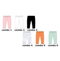 133181 Basic small girls legging 6 colours (36 pcs)