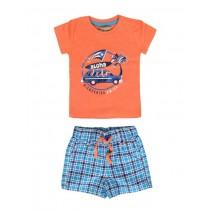133190 Riviera baby boys set shirt+bermuda combo 1 camelia (4 pcs)