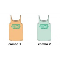 Encounter teen girls singlet combo 2 blue glow (6 pcs)