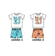 133637 Encounter baby boys set shirt+short combo 2 camelia (4 pcs)
