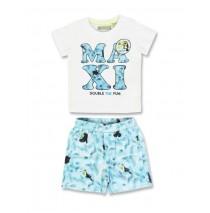 133637 Encounter baby boys set shirt+short combo 1 blue danube (4 pcs)