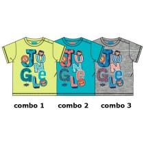 133639 Baby boys shirt combo 2 blue danube (4 pcs)