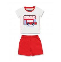 133641 Edgelands baby boys set shirt+short combo 1 optical white (4 pcs)