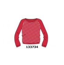 Riviera small girls sweatshirt raspberry (5 pcs)