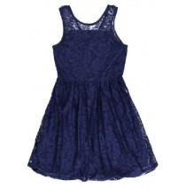 Edgelands teen girls dress medieval blue (4 pcs)