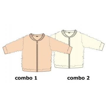 Infusion baby girls jacket combo 2 marshmallow (4 pcs)