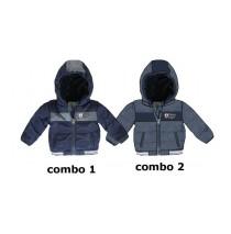 133864 Nocturne baby boys jacket combo 2 blue (4 pcs)