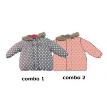 Nocturne baby girls jacket combo 2 flamingo pink (4 pcs)