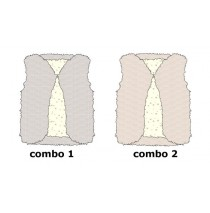 133948 Infusion baby girls bodywarmer combo 2 evening sand (4 pcs)