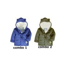 Infusion baby boys polar fleece jacket combo 2 bungee cord (4 pcs)