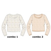 Small girls pullover evening sand (6 pcs)