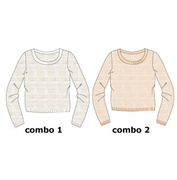 Infusion small girls pullover combo 2 evening sand (6 pcs)