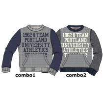 134210 Design Matters teen boys sweatshirt combo 2 dk grey melange (6 pcs)