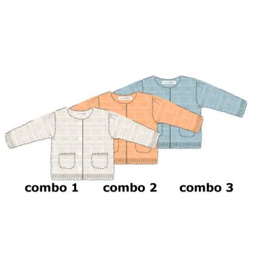 Infusion baby girls cardigan combo 3 chambray blue (4 pcs)