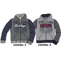 134215 Design Matters small boys sweater combo 2 dk grey melange (6 pcs)