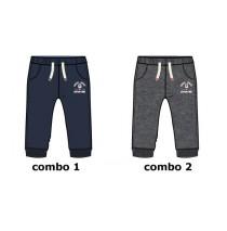 Infusion baby boys jogging pant combo 2 dark grey melange (4 pcs)