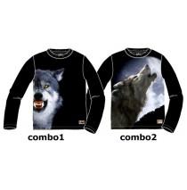 134369 Nocturne teen boys shirt combo 2 howling wolf (6 pcs)