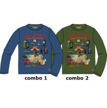 134407 Earthed small boys shirt combo 2 kaki (6 pcs)