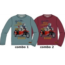 134411 Infusion small boys shirt combo 2 tibetan red (6 pcs)